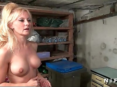 Big boobed french mature gets her ass pounded