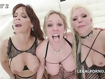 Outnumbered both way Pee Edition #2 With Syren De Mer, Dee Williams and Barbie Sins Balls Deep Orgy, Piss drinking GIO1063