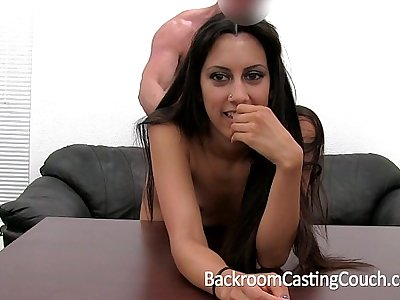 Persian Squirter Anal Fail Creampie Win on Casting Couch