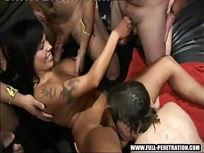 Scarlett march fucks amateurs at a gangbang party