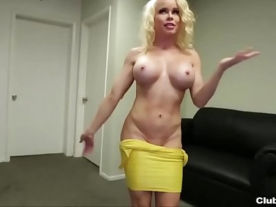 ct-Horny milf jerks off a young dude