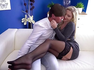 MOM Hot Scottish blonde Georgie Lyall sloppy blowjob and doggy