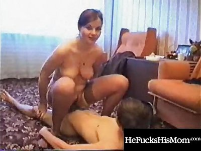 beautiful mom fucks her son