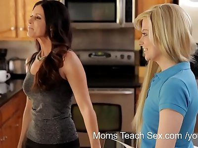 YouPorn - Moms Teach Sex StepMom turns study time into fuck time